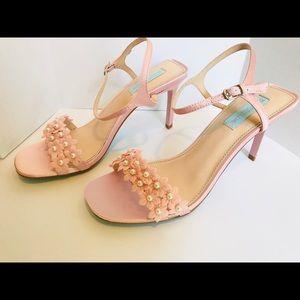 Betsey Johnson Pink Satin Heels